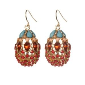 KTcollection NYC Red Fabergé Egg Earrings {NWOT}